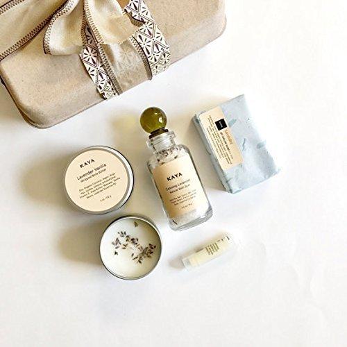 Kaya Lavender Gift Set | Spa Gift Set | Calming & Relaxing Gift for Him | Gift For Her | Handmade, All Natural Organic