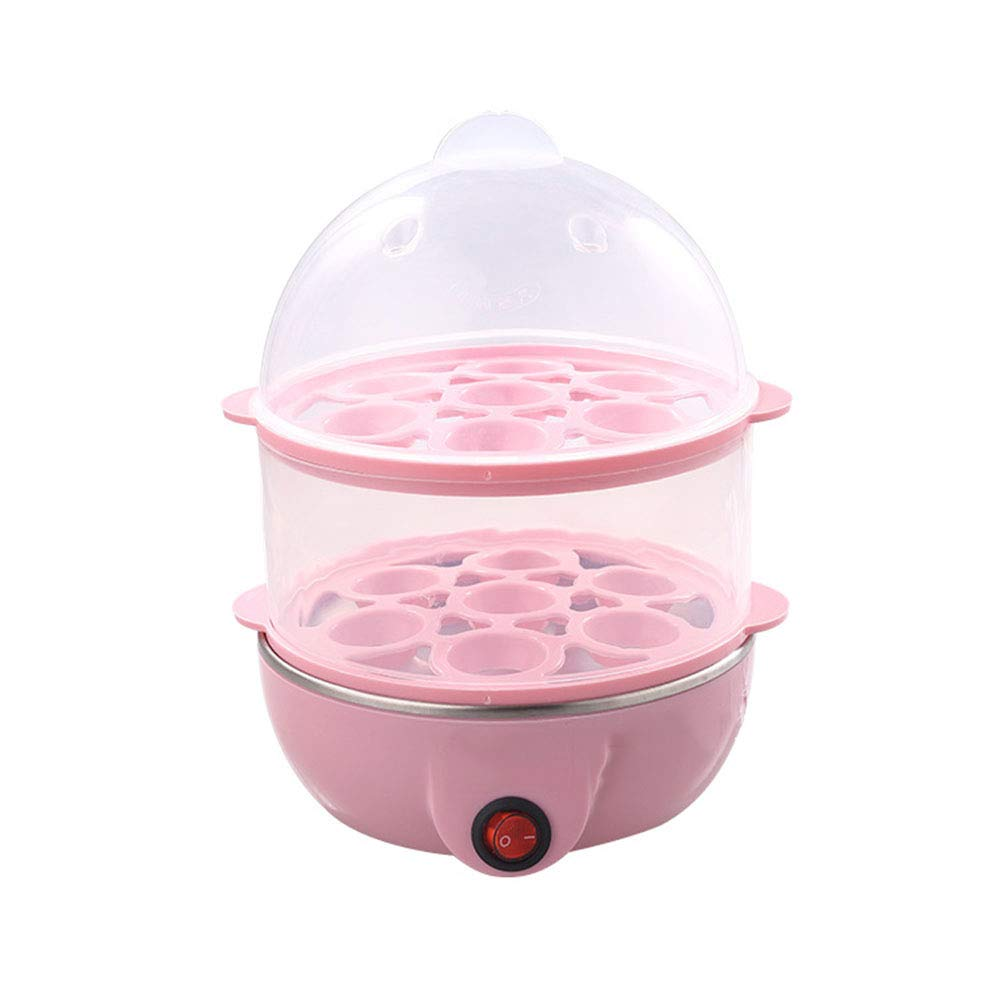 QYCL Steamed Egg Pot, Multi-Function Egg Cooker Steamed Egg Double-Layer Egg Cooker Stainless Steel Chassis Heating Home Breakfast Machine