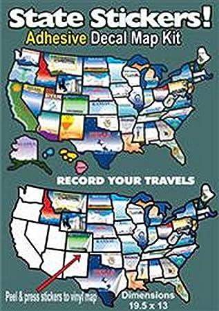 Amazon.com: RV Trailer STATE STICK STICKER MAP Travel Map Sticker ...