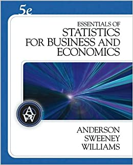 Book D.R. Anderson's,D. J. Sweeney's,T. A. Williams's 5th(fifth)edition(Essentials of Statistics for Business and Economics (with CD-ROM) (Hardcover))(2008)
