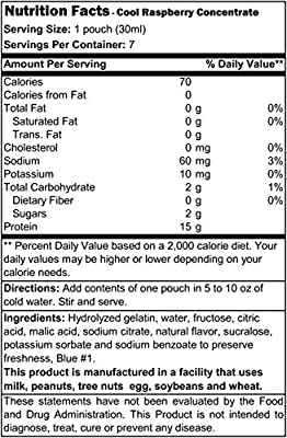 Proti Diet Concentrated Drink Mix (7 servings) (Cool Raspberry, 7 Servings)