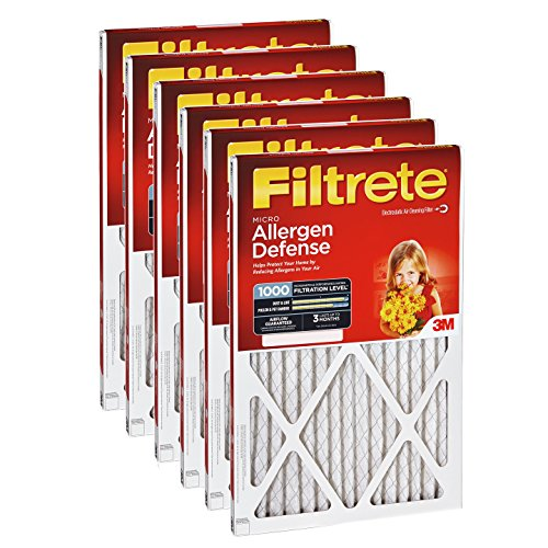 Filtrete 1000 Micro Allergen Defense Filter – 17.5×23.5×1 (6-Pack)