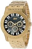 "JBW Men's JB-6219-H ""Krypton"" Gold Black Chronograph Diamond Watch, Watch Central"