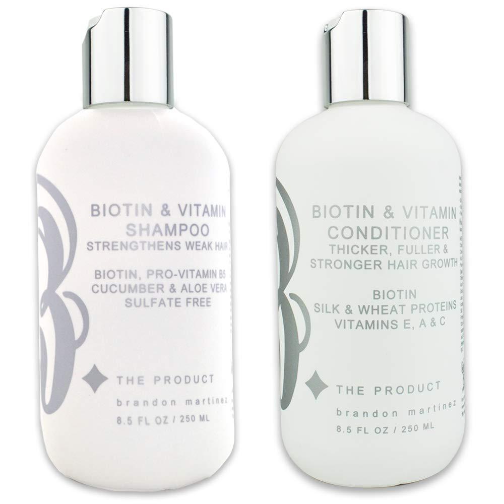Biotin Vitamin Hair Growth Shampoo & Conditioner SET-(High Potency) Biotin Shampoo + Conditioner Set For Fastest Hair Growth, Vitamins E, A, And C B THE PRODUCT … (8.5oz.)