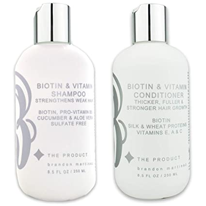 Biotin - Champú y acondicionador de vitamina para el crecimiento del cabello (alta potencia)