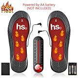 EJOY Heated Insoles Electric Heating Shoes Pad Battery Powered Foot Warmer for Women Men Winter Outdoor Activity Like Hunting Ice Fishing Hiking Skiing Camping (Black)