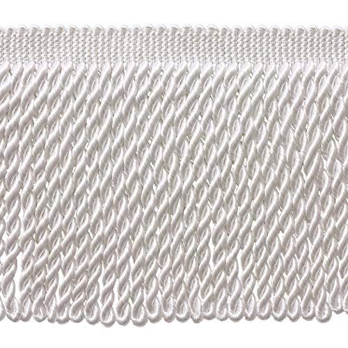 Bullion Trim - DÉCOPRO 5 Yard Value Pack - 6 Inch Long White Bullion Fringe Trim, Basic Trim Collection, Style BFS6 Color: A1 (15 Ft / 4.5 Meters)
