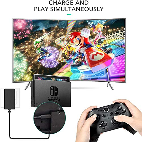 Charger for Nintendo Switch and Switch Lite, Fast Charging 15V/2.6A Portable Type C Wall Charger AC Adapter Replacement Accessories Support TV Mode and Pro Controller