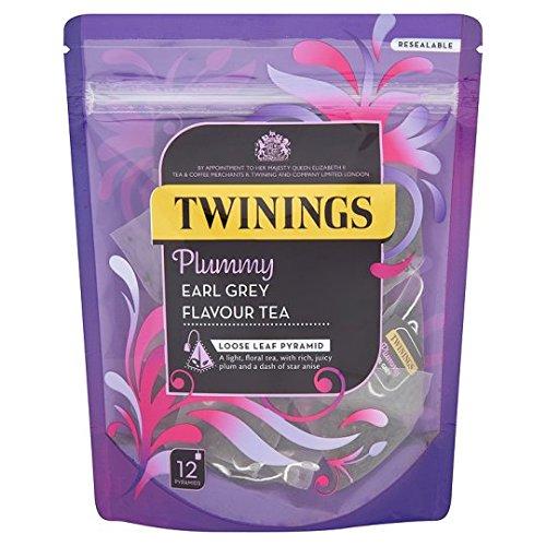 Twinings Plummy Earl Grey Loose Leaf Pyramid 12 Per Pack (Leaf Twining)