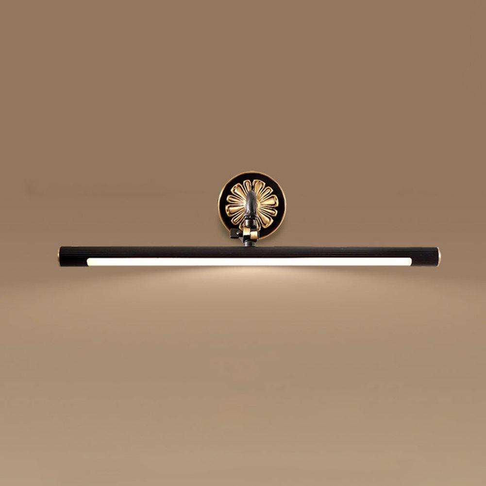 XUERUI Incandescent Lamps Mirror Light Copper + Acrylic 9-15W Led Warm White Waterproof Bathroom Toilets 43cm / 56cm / 75cm Mirror Light (Size : 56cm)