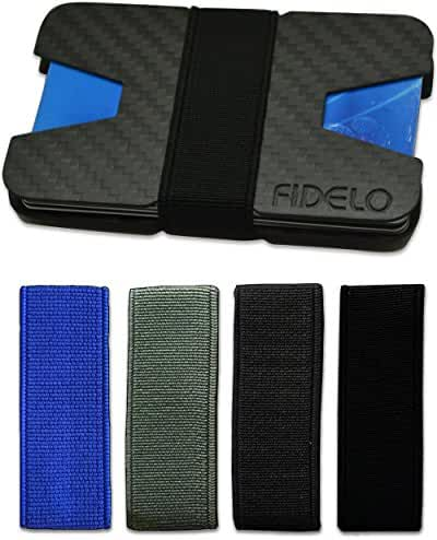 Carbon Fiber Wallet - Minimalist Slim Front Pocket Wallets for Men & Money Clip