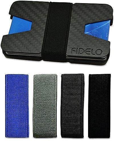 03. Carbon Fiber Wallet - Minimalist Slim Front Pocket Mens Wallets with Money Clip