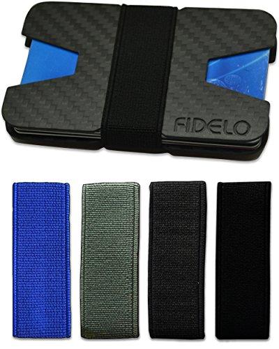 Carbon Fiber Wallet - Minimalist Slim Front Pocket Wallets for Men & Money Clip
