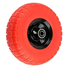 """NK WFFOR10 Heavy Duty Solid Rubber Flat Free Tubeless Hand Truck/Utility Tire Wheel, 4.10/3.50-4"""" Tire"""