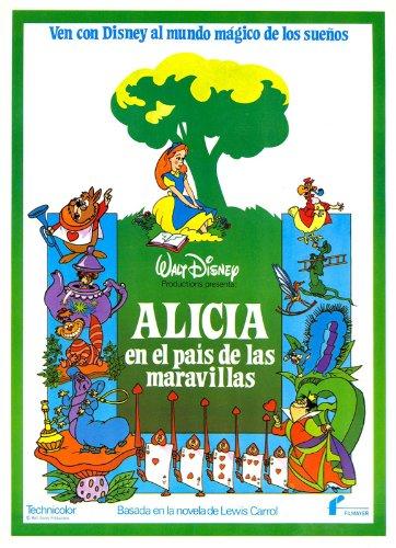 Alice in Wonderland Movie Poster (27 x 40 Inches - 69cm x 102cm) (1951) Spanish Style B -(Kathryn Beaumont)(Ed Wynn)(Richard Haydn)(Sterling Holloway)