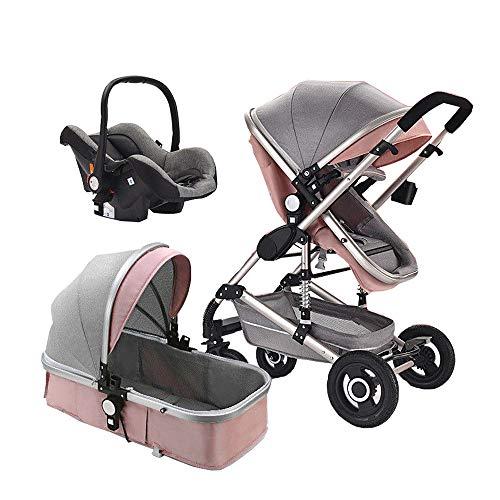 Baby Stroller 3 in 1 Foldable Baby Pram Portable Travel Pushchair Infant Basket car seat Stroller Neonatal Carriage