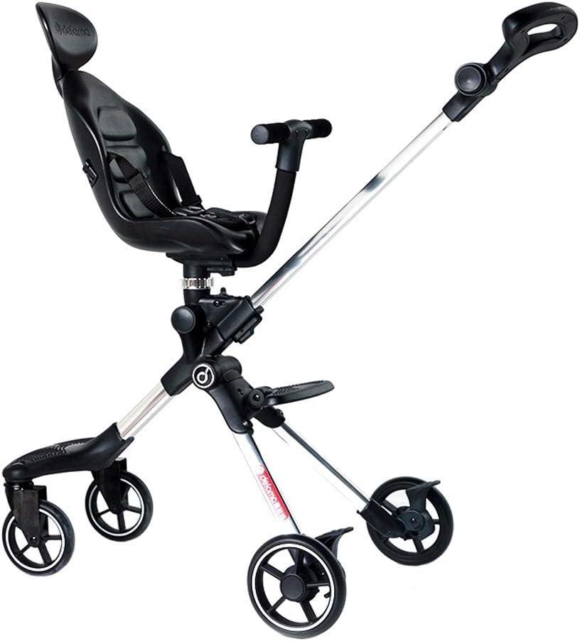 XYAOYAN Triciclos Cochecito De Bebé Carro Infantil Luz Plegable Asiento De Dos Vías Cochecito De Jardín Alto Puede Estar En El Avión 2 Colores Se Pueden Usar como Regalo ( Color : Silver )