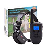 TrainTech Dog Shock Collar with Remote,Rechargeable and Waterproof Training Collar,Beep/Vibration/Shock Electric Collar For 1 Dog