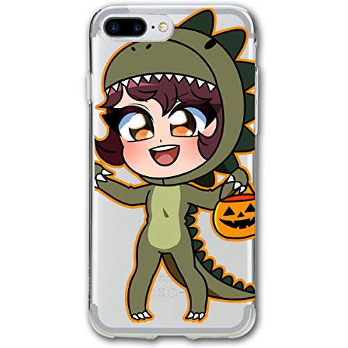 Dinosaur Costume Girl Halloween Pumpkin iPhone 8 Plus Case, iPhone 7 Plus Case, Ultra Thin Lightweight Cover Shell, Anti Scratch Durable, Shock Absorb Bumper Environmental Protection Case Cover -