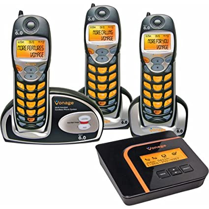 Vonage Expandable Digital Voice Cordless Telephone Kit For Vonage