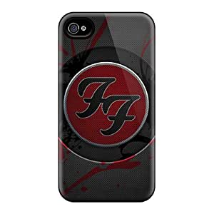 KerryParsons Iphone 4/4s Protective Hard Phone Covers Customized Realistic Foo Fighters Pattern [ZkZ10019cfQl]