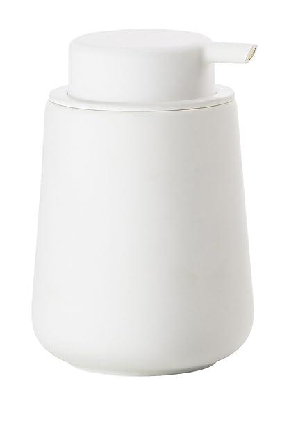 zona Jabón Bomba Nova One, de loza con Soft Touch, color blanco de 11