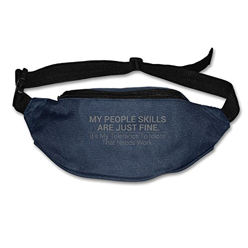 Ada Kitto My People Skills Are Fine Mens&Womens Sport Style Travel Waist Bag For Running And Cycling Navy One Size by Ada Kitto (Image #4)