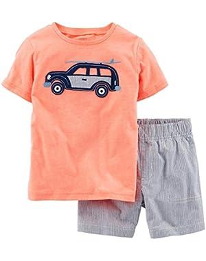 Carter's Baby Boys' Striped Short Set (Baby)