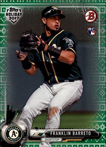 2017 Bowman Topps Holiday Ugly Sweater Green #THFB Franklin Barreto /99 RC Rookie MLB Baseball Trading Card -
