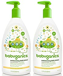 Babyganics Daily Lotion Chamomile Verbena, 17 Ounce, 2 Pack