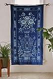 Indigo Shibori Hand Dyed Portal Japanese Noren Door Curtain Table cloth Review