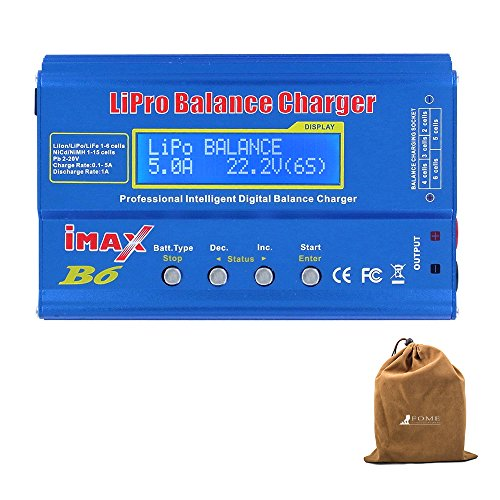 - Balancing Battery Charger, FOME SKYRC IMAX B6 Professional Lipro Balance Charger/Discharger Aluminum Alloy Shell for Multi-axis Aircraft/Car Model/Model Airplane LiPo/Lilon/LiFe/NiCd/NiMH/Pb Batteries