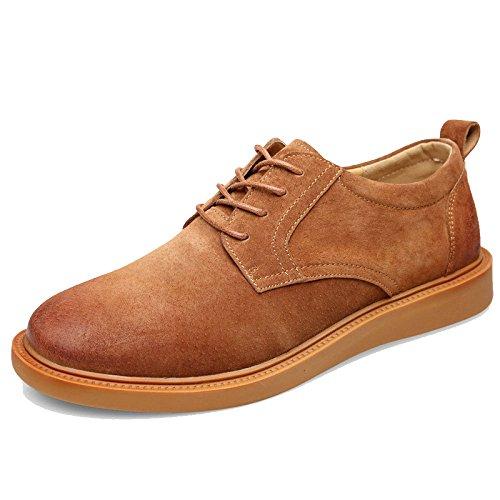 Cuir LEDLFIE Vintage pour Hommes Cuir Brown Chaussures Joker en Casual Chaussures en Respirant tPqwrPIXx