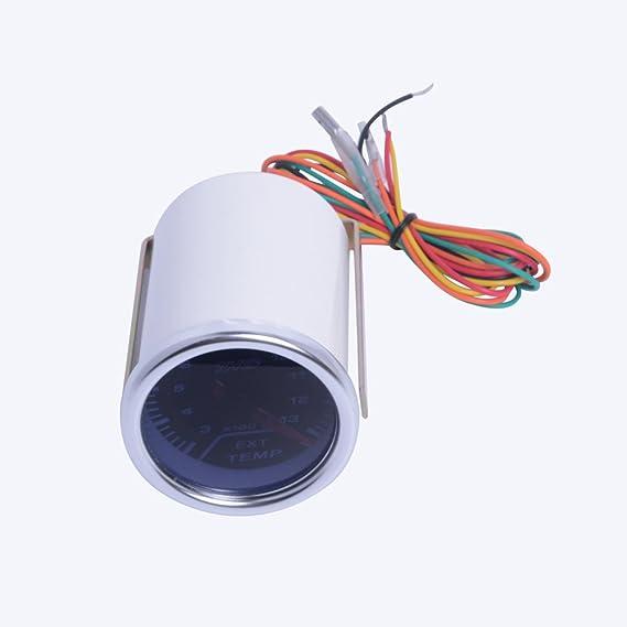 Amazon.com: Excellent EXT Tempreture Gauge DC12V Diameter: 52MM/ 2