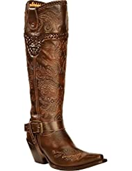 CORRAL Womens Vintage Studded Harness Cowgirl Boot Snip Toe - G1116