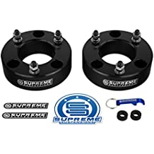 """Supreme Suspensions - F150 Lift Kit Front 2.5"""" Leveling Lift Kit for [2004 - 2018 Ford F-150] and [2003 - 2018 Ford Expedition] BLACK Aircraft Billet Strut Spacers"""