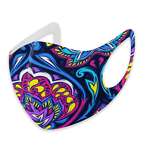 Mouth Masks for Dust Protection Anti Face Mask Washable Earloop Mask Blue Mandala