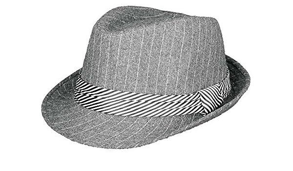 Amazon.com   Subtle Addition Trilby Fedora Kids Hats (Grey Pinstripe) Color   Grey Pinstripe Model  Baby cf0537ccf153