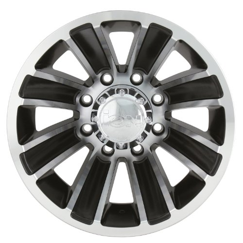 """Ion Alloy Dually 166 Matte Black Wheel with Machined Face (16x6""""/8x170mm)"""