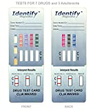 5 Pack Identify Diagnostics 7 Panel Drug Test Dip with 3 Adulterants OX, CRE, pH - Testing Instantly for 7 Different Drugs: BUP, BZO, COC, MET, MOP, OXY, THC #ID-CP7-DIP-ADULT (5)