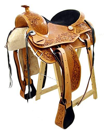 Western Sattel Cuba in pelle pelle pelle di bufalo di alta qualità Nuovo Roping Sattel, 16 pollici fea3c2