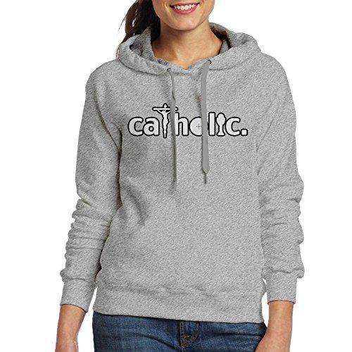 Les Femmes, Ce Catholique Est Ma Foi Sweat À Capuche Pull-over Cendres Sweat-shirt De Poche Kangourou