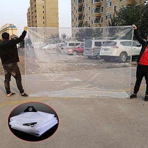 SHIJINHAO 防水シート植物温室屋根用防水クリアターポリン、PVCシートヘビーデューティ防塵防雨、アイレットと防風カバー、 (Color : 明確な, Size : 8x15m)