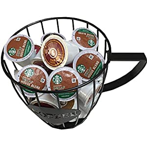 Large Wire Basket Coffee And Expresso Mug Holder Kitchen Decor For Coffee Lover By Ctd Store