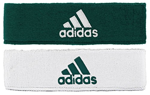 adidas Interval Reversible Headband, Green/White, One Size