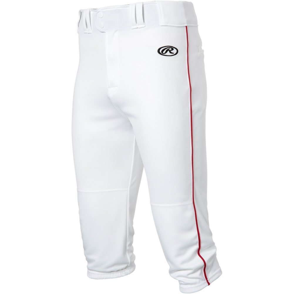 RawlingsメンズLaunch Piped Knickerパンツ B0777CY3NG Medium|White|Scarlet White|Scarlet Medium