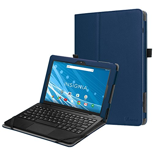 Fintie Folio Case for Insignia Flex 10.1 (NS-P10W8100/NS-P10A8100K), Slim Fit Premium Vegan Leather Stand Cover with Stylus Holder for 10.1