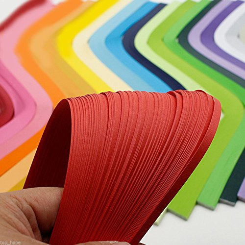 LEIZENG DIY 120 Strips 5mm Paper Quilling Color Origami Paper Hand Craft Milk White by LEIZENG (Image #4)