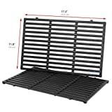 Uniflasy Cast Iron Grill Cooking Grid Grates Replacement Parts for Weber 1100 LP, SP310, 2381001, 3720301, 4421001, 46510001, 47510001, 6721001, 6721411, 6750001, Spirit 300 Series, Spirit 700 & More