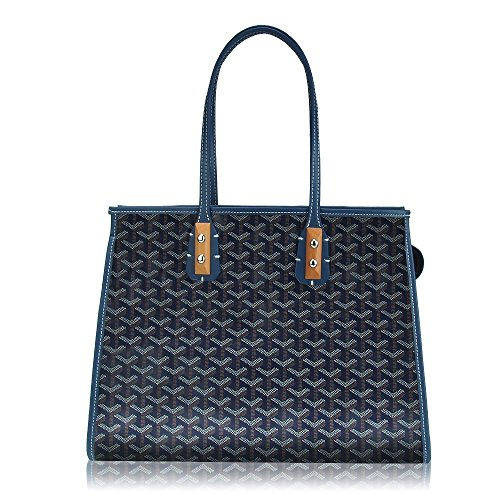 Fashion Bag Set (Stylesty High Grade Fashion Shopping PU Tote Bag Set, Designer Shoulder Handbags top Handle Bag (Dark Blue))